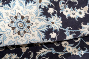 tappeto persiano nain di forma rettangolare piccolo